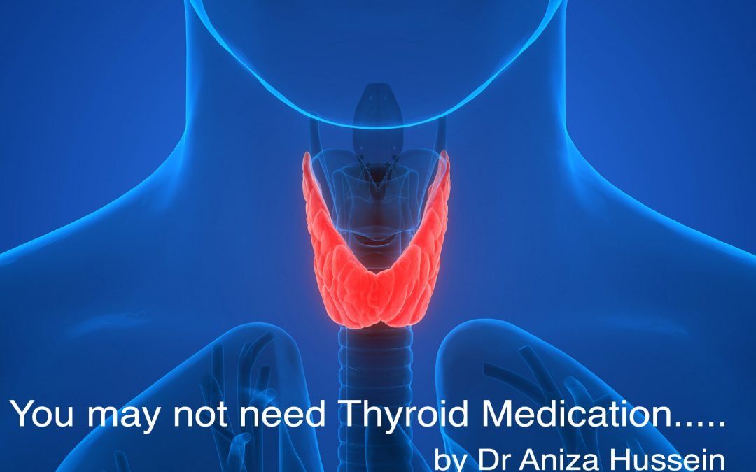 You may not need Thyroid Medication…..